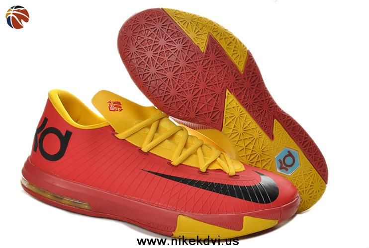 official photos 06e60 12767 Buy Red Yellow 599424-112 Nike Zoom KD 6 Low Kevin Durant Shoes Discount
