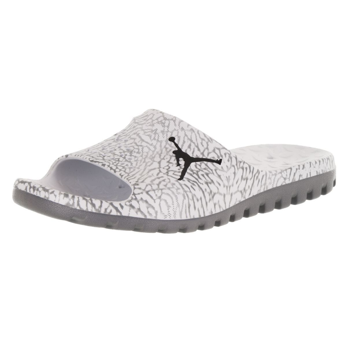 6fdd213ee7e36 Nike Jordan Men s Jordan Super.Fly Team Slide Pure Platinum  Cool Grey  Sandal