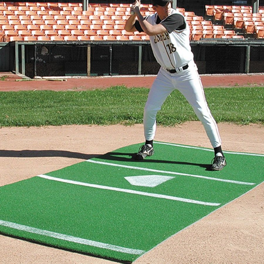 Sports Turf 6 X 12 Baseball Mat With Painted Home Plate Green Clay Sports Advantage Sports Turf Baseball Field Dimensions