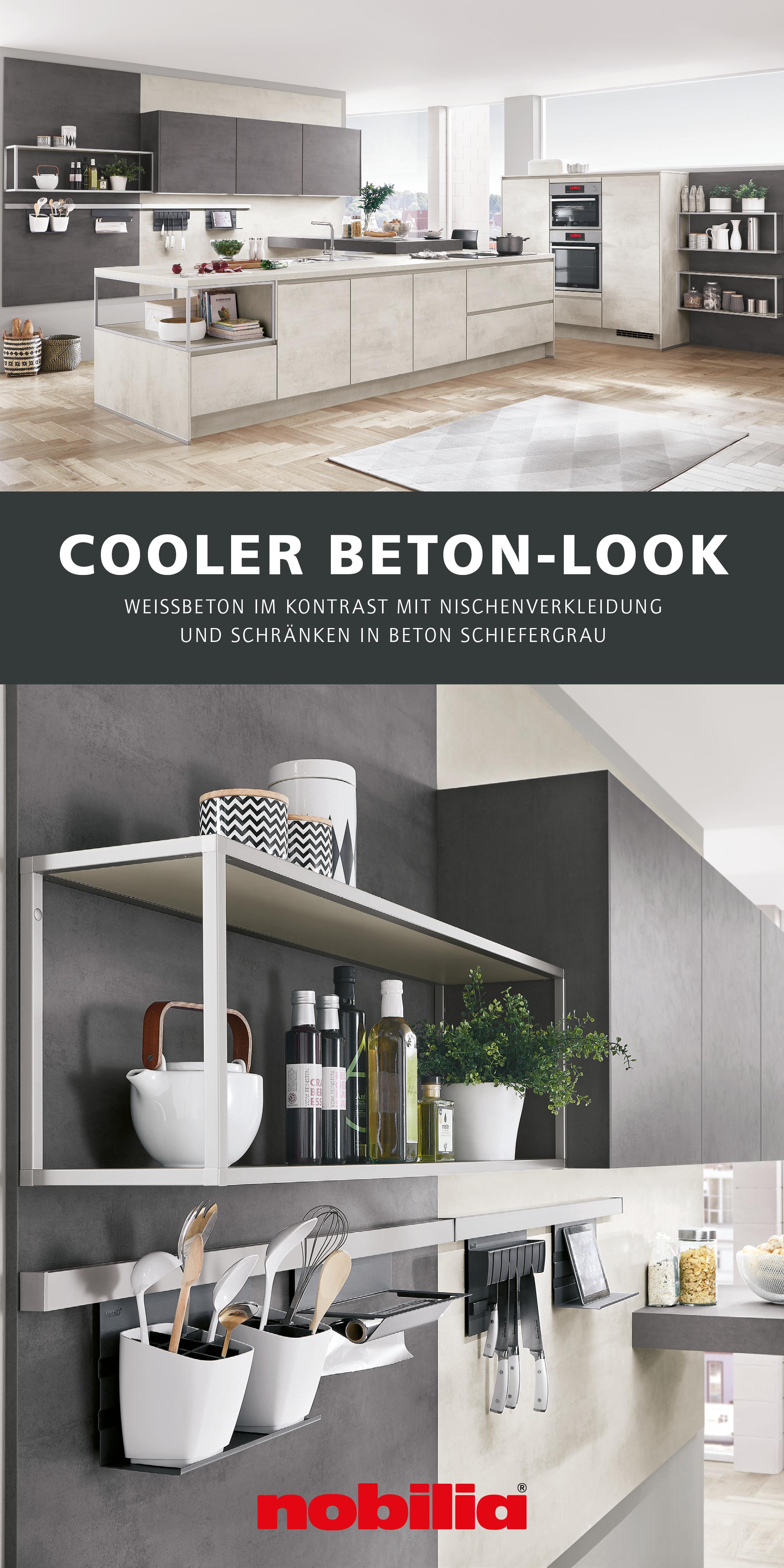 Betondekore Fur Die Kuche In 2020 Kuchen Design Nobilia Kuche