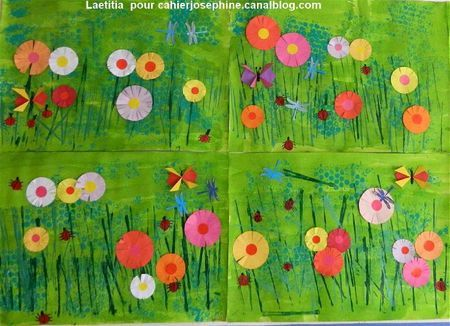 Arts plastiques prairie fleurie arts plastique - Fleurs printemps maternelle ...