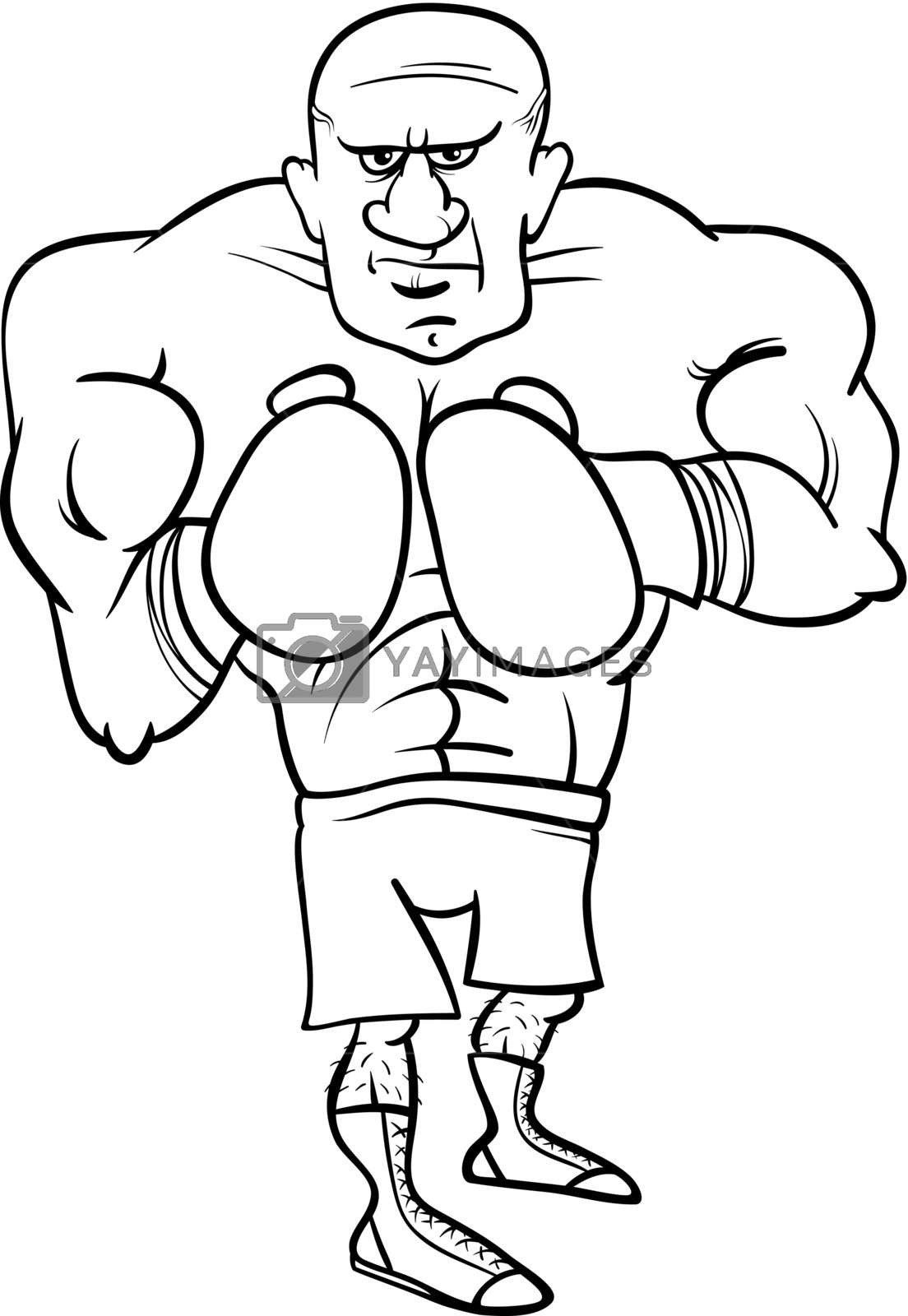 Boxing Gloves Coloring Pages Boxer Sportsman Cartoon Coloring Page Royalty Free Stock Fathers Day Coloring Page Cartoon Coloring Pages Cat Coloring Book
