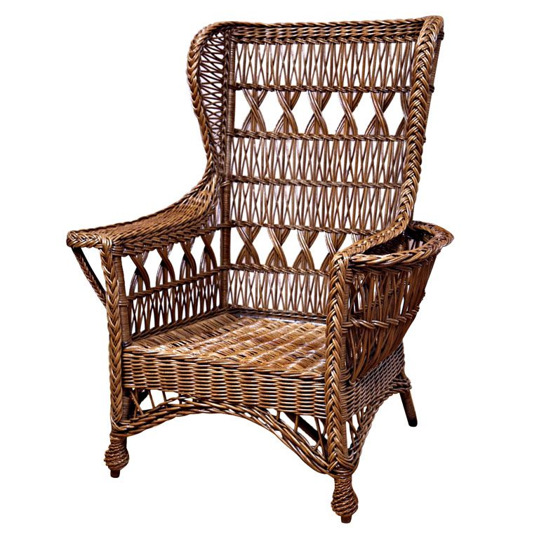 1stdibs Heywood Wakefield Bar Harbor Wicker Wingback Chair Explore Items From 1 700 Global Dealers At 1stdib Wicker Wicker Furniture Indoor Wicker Furniture