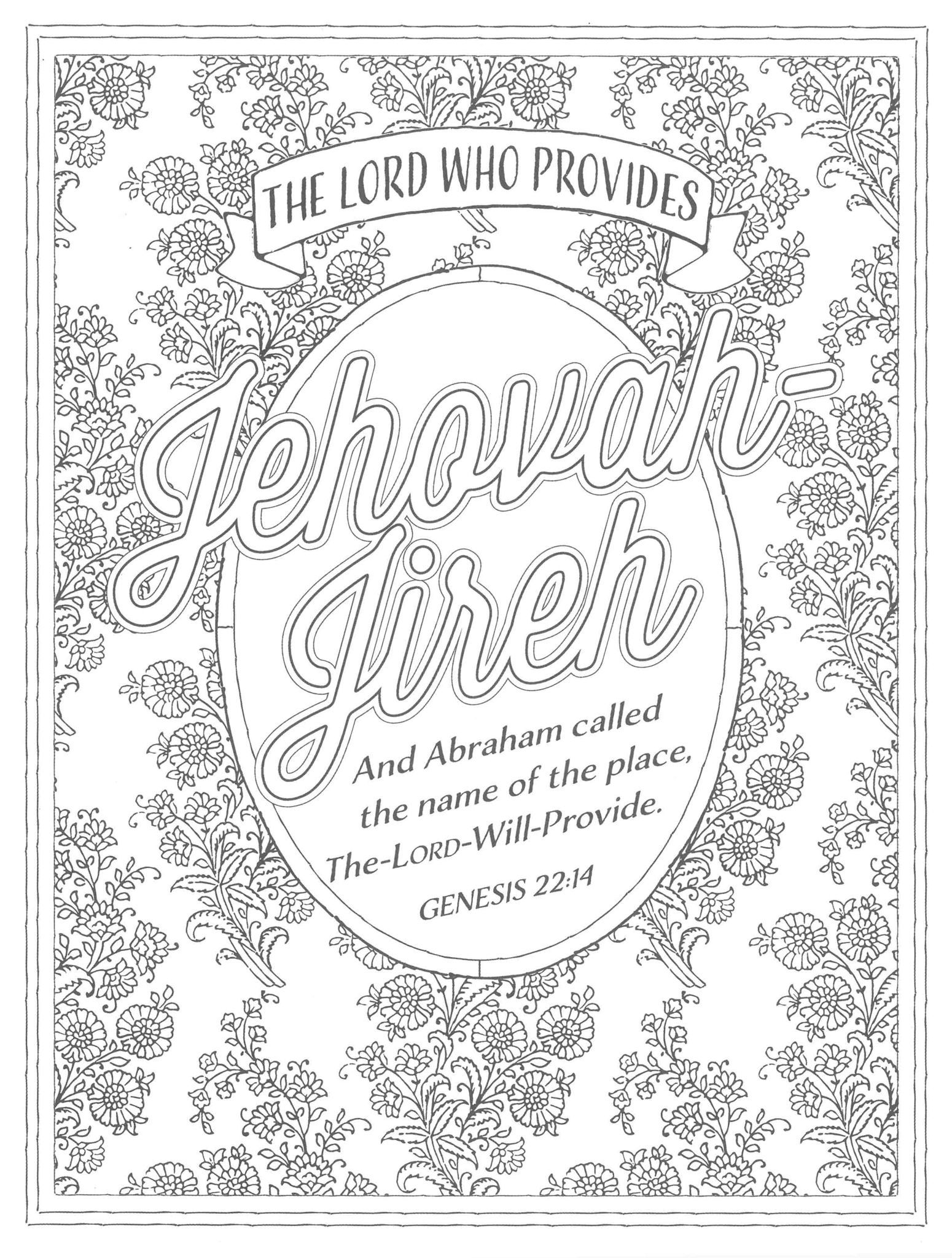Color The Names Of God Coloring Book Jesus Coloring Pages Bible
