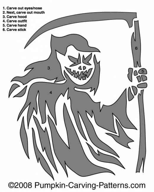 grim reaper pumpkin carving stencils pinterest pumpkin carving