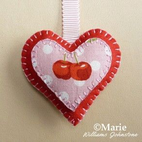 How to Make Plush Felt Stuffed Heart Ornaments for Valentine's Day