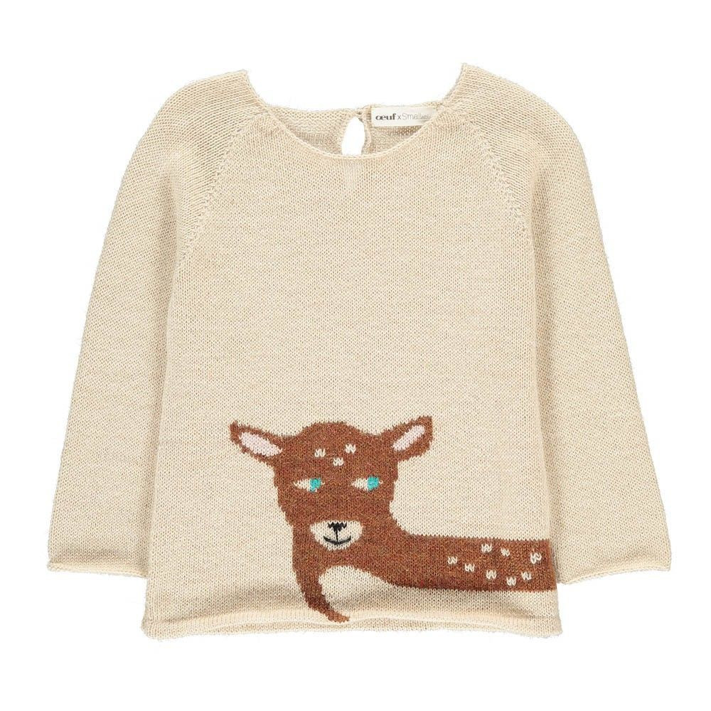 The final discounts are live on Smallable! Up to 60% off on hundreds of beautiful brands like Rylee +Cru, Emile et Ida, Bobo Choses, Numero 74… Oeuf NYC Bambi Alpaca Wool OEuf x Smallable Exclusive Jumper. Girls. Toddlers. Childrenswear. Fashion. Winter. Outfits. Clothes. Smallable. Oeuf NY.