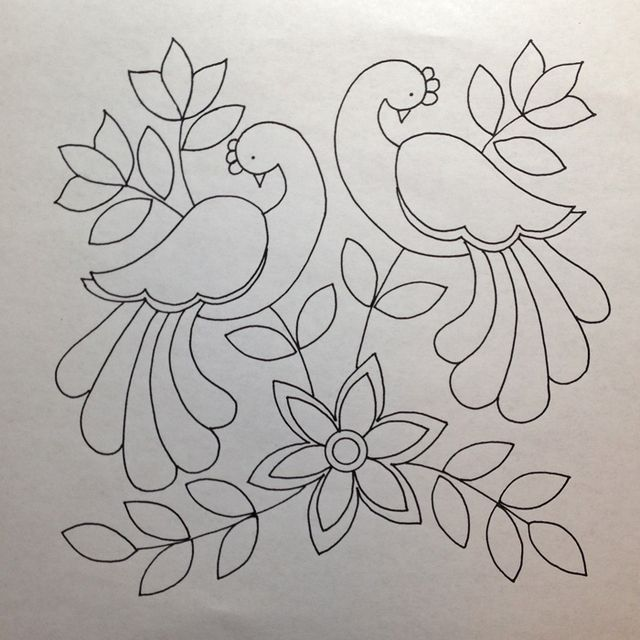 Coloring Book Anyone One Piece At A Time Embroidery Designs Handwork Embroidery Design Redwork Embroidery