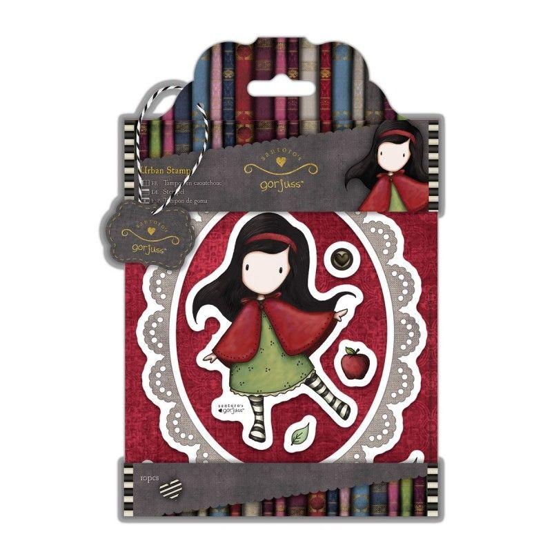 """SET TIMBRI - GORJUSS """"LITTLE RED"""" Set di timbri coordinati con la collezione Gorjuss di Santoro. Facilissimi da usare, basta inchiostrarli, posizionare il timbro sulla superficie e premere."""