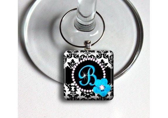 Personalized Glass Wine Charm - TheWeddingMile.com