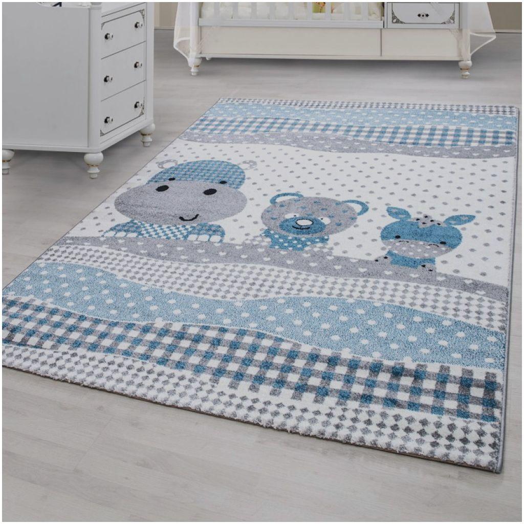 Einzigartige Teppich Blau Rund Kinderzimmer Teppich Blau