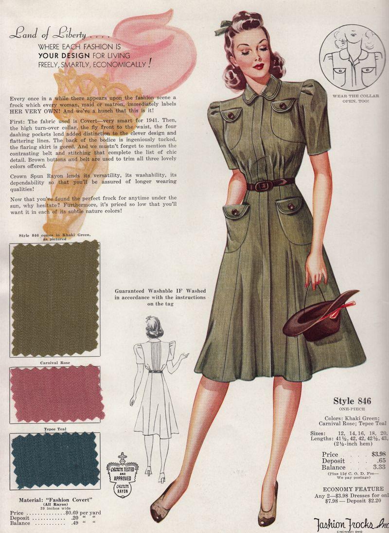 Fashion Frocks From The 1940 S 800 1096 Retro Fashion 50s Fashion Retro Fashion