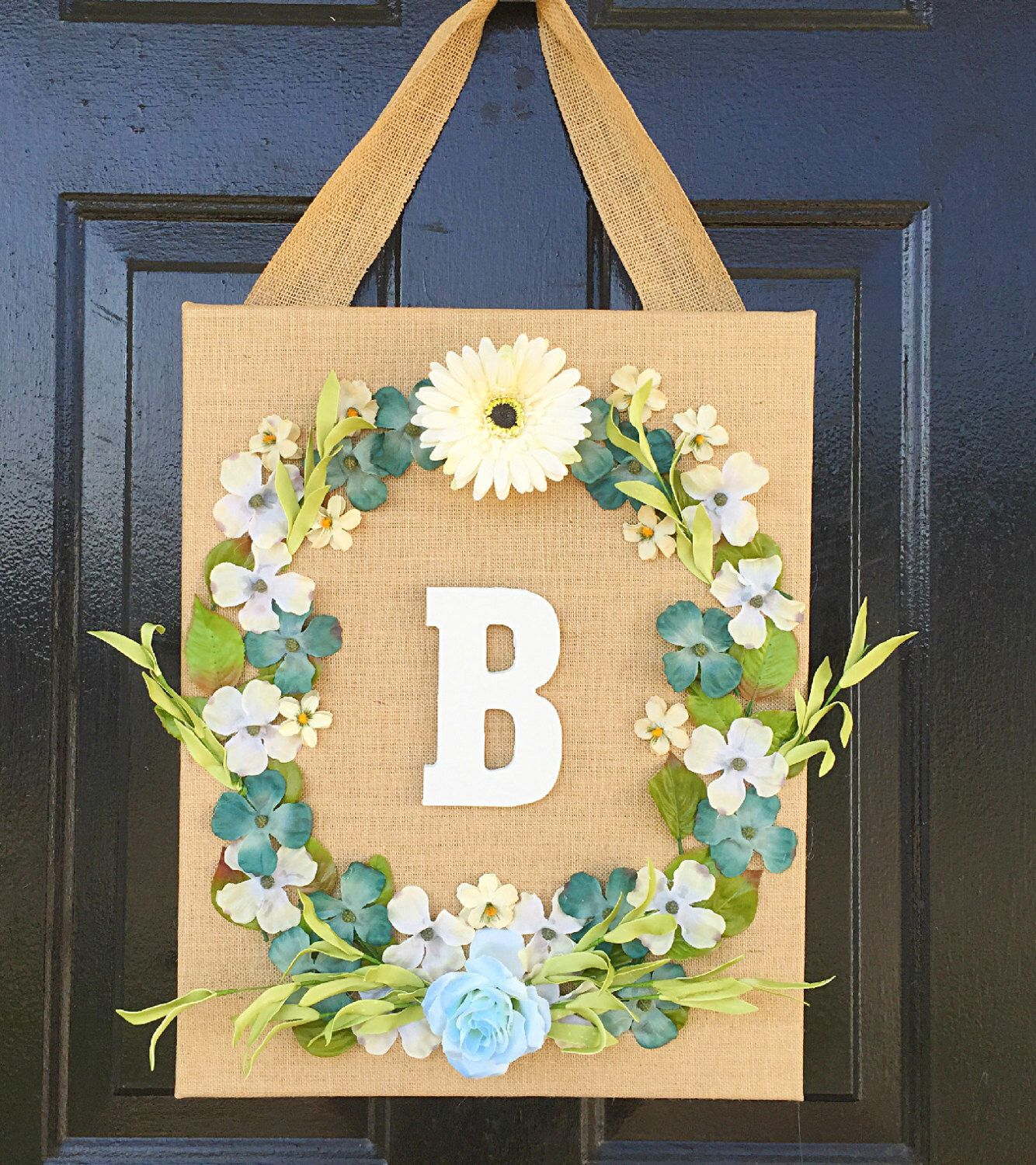 Front door wreath, wall decor, girl bedroom decor, wall hanging ...