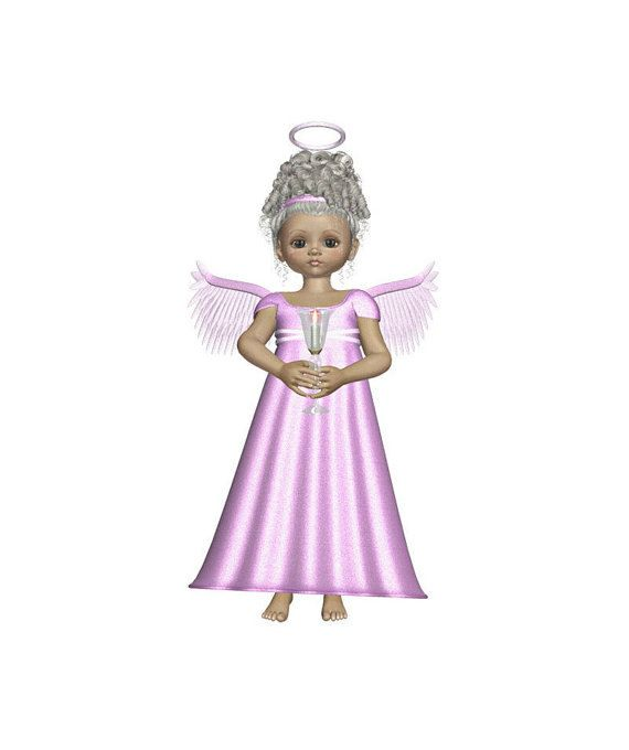 "Angel Holding Candle Digital Download,Magenta Angel, 3D Angel Template, Large 3D Angel Graphics Sheet ""Magenta Angel"" Transfer Template by ICreateAndCollect on Etsy"