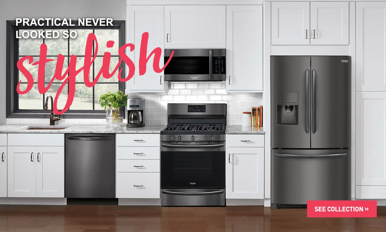 Frigidaire Gallery Black Stainless Steel Appliances Connection Black Stainless Appliances Black Appliances Kitchen Black Stainless Steel Appliances