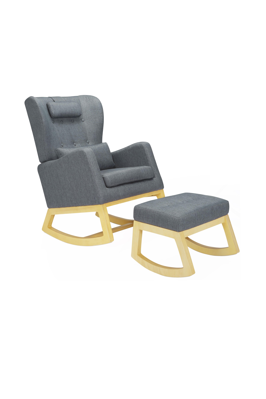 Awesome Il Tutto Bambino Mimmie Chair Ottoman In Flint Grey Creativecarmelina Interior Chair Design Creativecarmelinacom