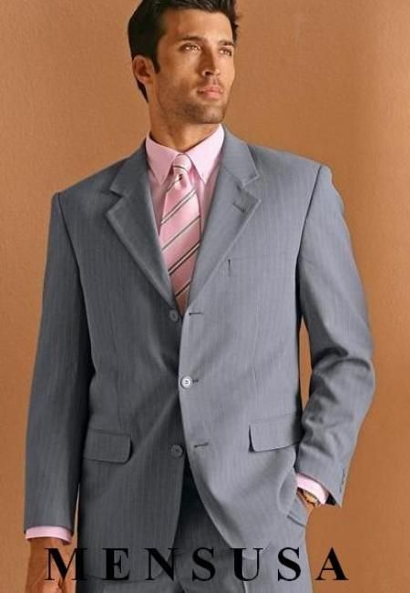 grey suit and pink tie | Tie - grey, pink - striped | Ties & Bow ...