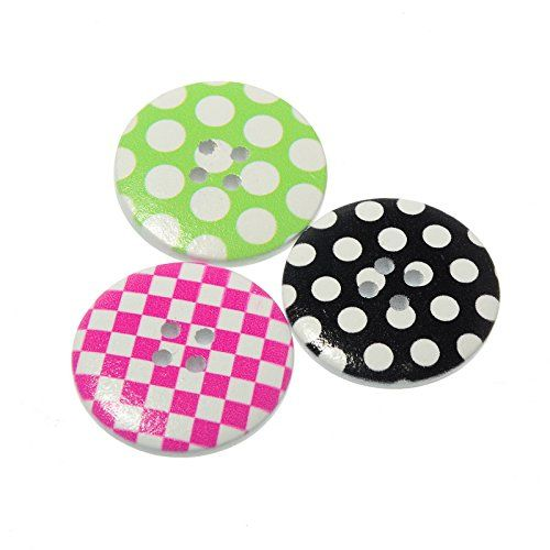 Pack of 50PC White Color Resin 4 Holes Scrapbooking Sewing Buttons 30mm *** Continue to the item at the image link.