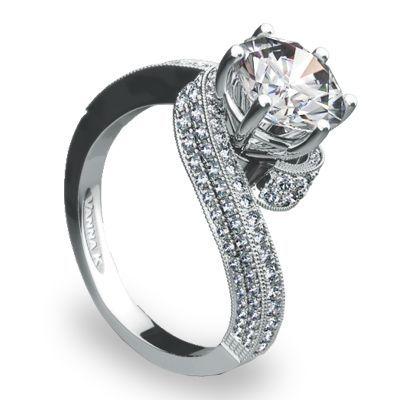 Modern Vanna K. Engagement Ring #weddings #engagements #modernrings