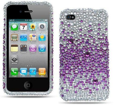 SPLASH PURPLE FULL Diamond Rhinestones Snap-On 2Pcs Protector Phone Cover Case for Apple Iphone 4 (AT, VERIZON) by ccphonecase, http://www.amazon.com/dp/B005EJNCM0/ref=cm_sw_r_pi_dp_t2nsrb108C3DC