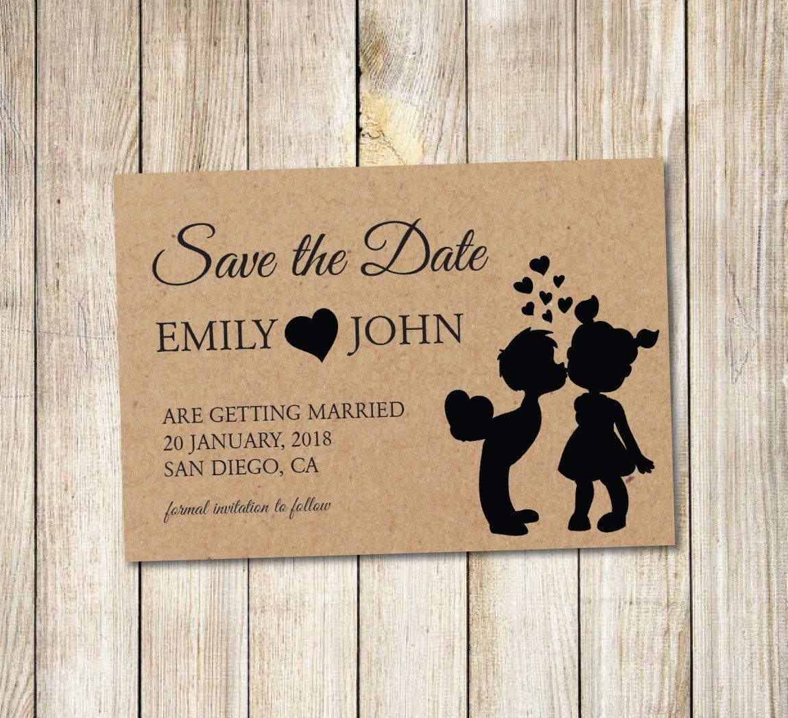Printable Save The Date Announcement Template Save The Date Postcard