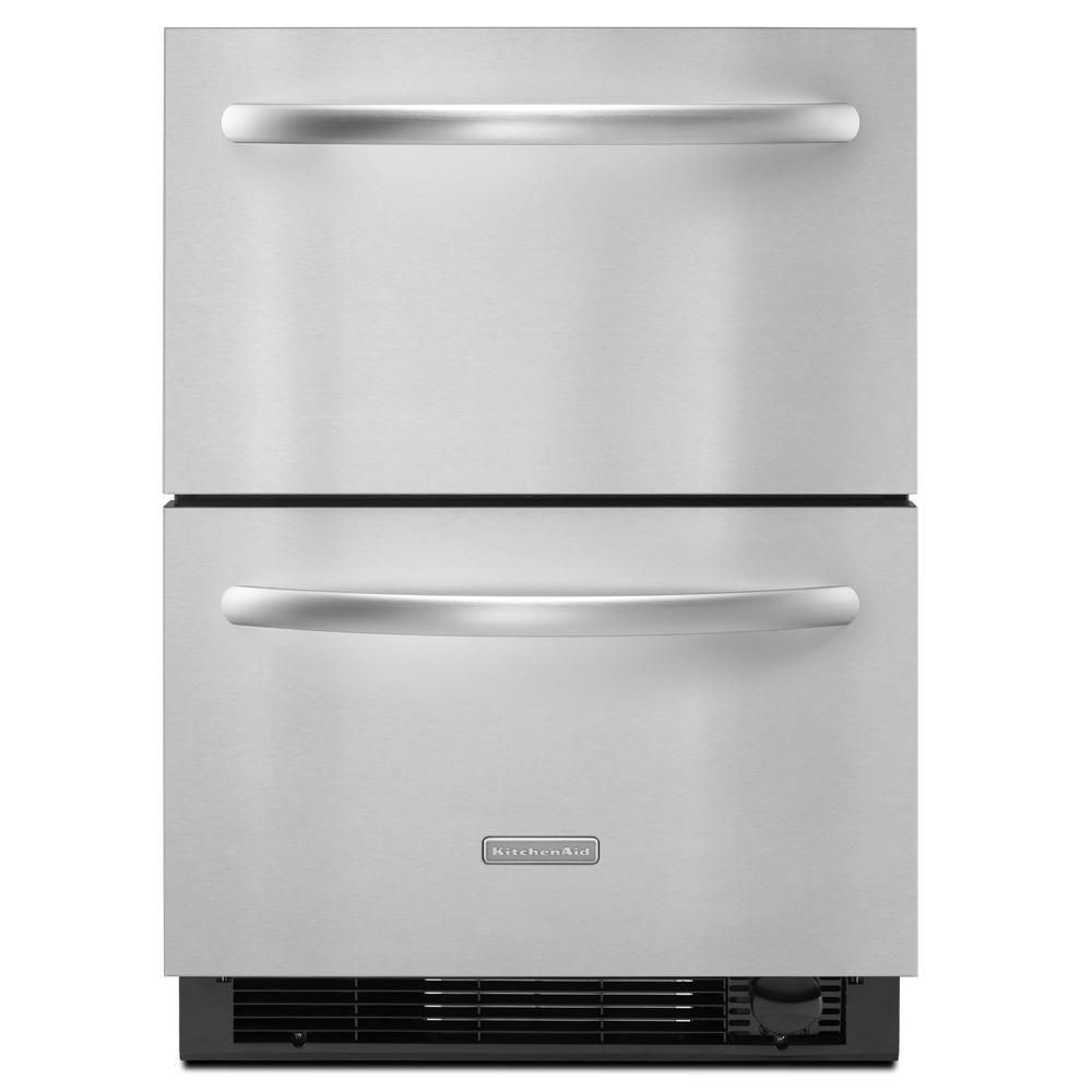 Kitchenaid double drawer 48 cu ft bottom freezer
