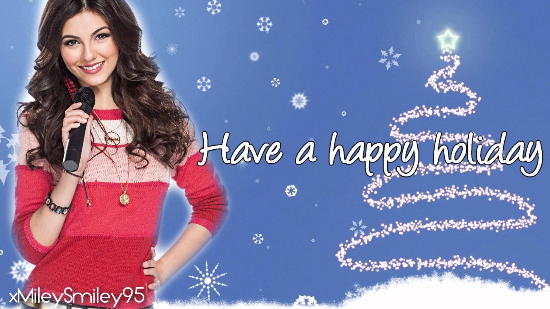 Victoria Justice Rockin Around The Christmas Tree with lyrics