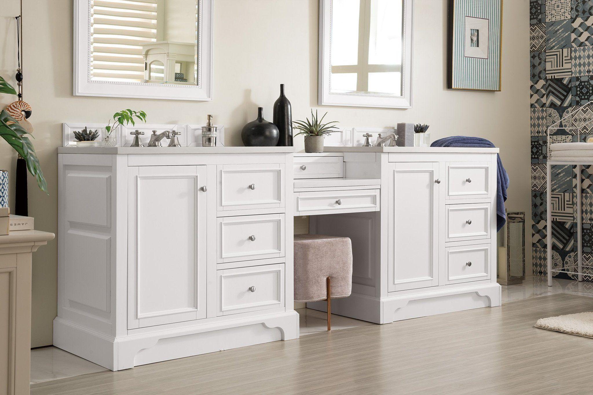 """De Soto 94"""" Double Bathroom Vanity in 2020 Double sink"""