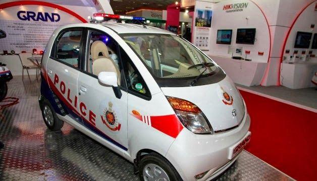 Tata Nano, a concept car for India Police Officer