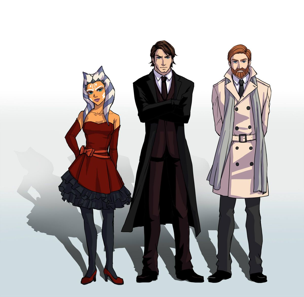 rriyancyy777: The jedis in suits and dress