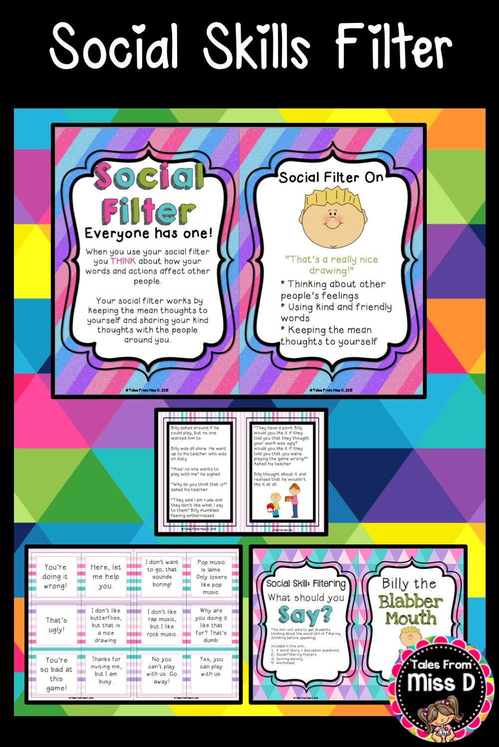 Social Skills and Stories Social Filter | Worksheets, Activities ...