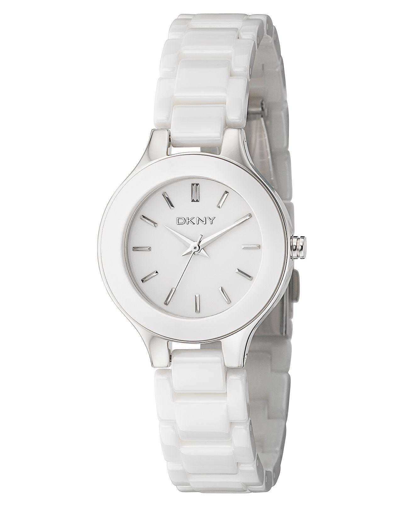 Dkny Watch Women S White Ceramic Bracelet Ny4886 Women S Watches Jewelry Watches Macy S Womens Watches Dkny Watch Bracelet Watch