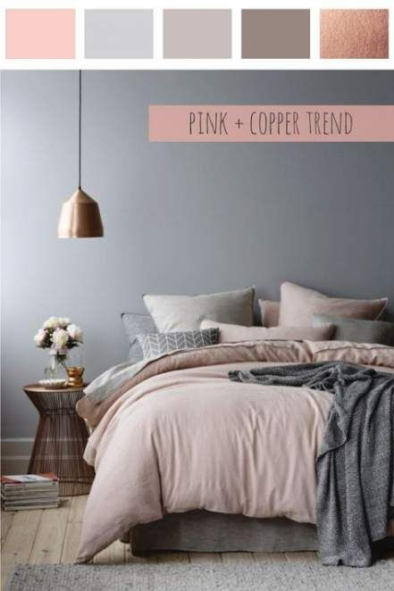 Trendy bedroom grey copper gray 29+ Ideas #graybedroom