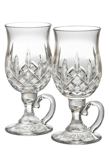 Waterford Lismore Lead Crystal Irish Coffee Glasses Set of 2
