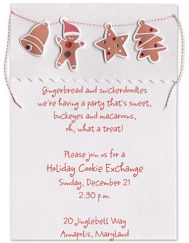 Wording Wednesday Creative Holiday Invitations Cookie Decorating