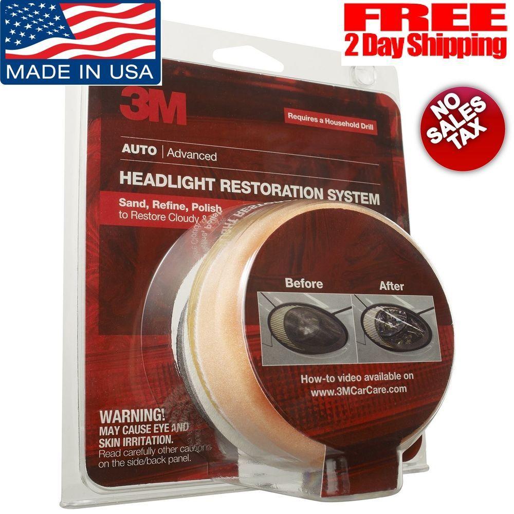 3M Headlight Lens Restoration System Restorer Kit 39008