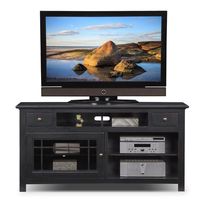 "Entertainment Furniture Merrick Black 64"" TV Stand"