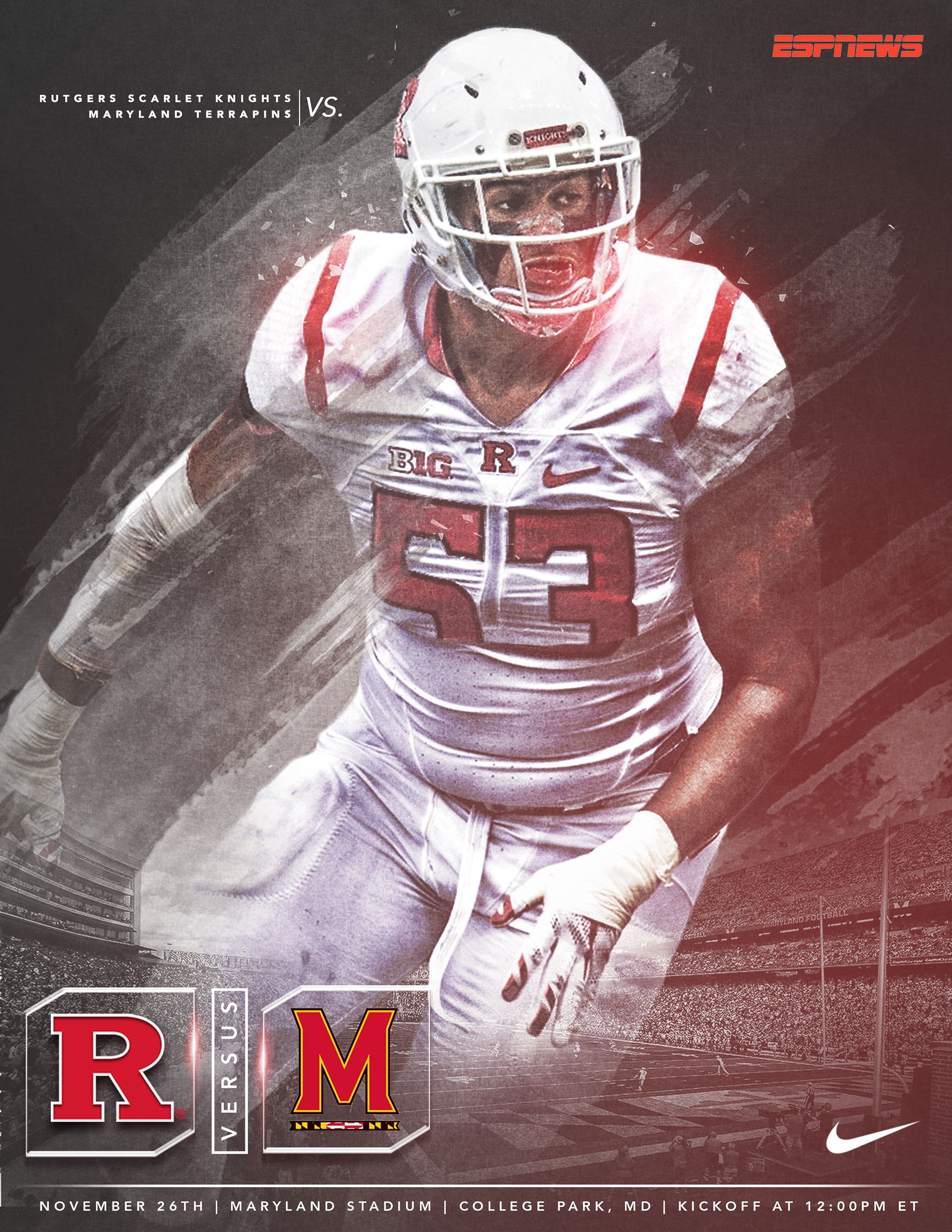 Rutgers Football Game Week Graphics Pt 2 On Behance Rutgers Football Football Football Games