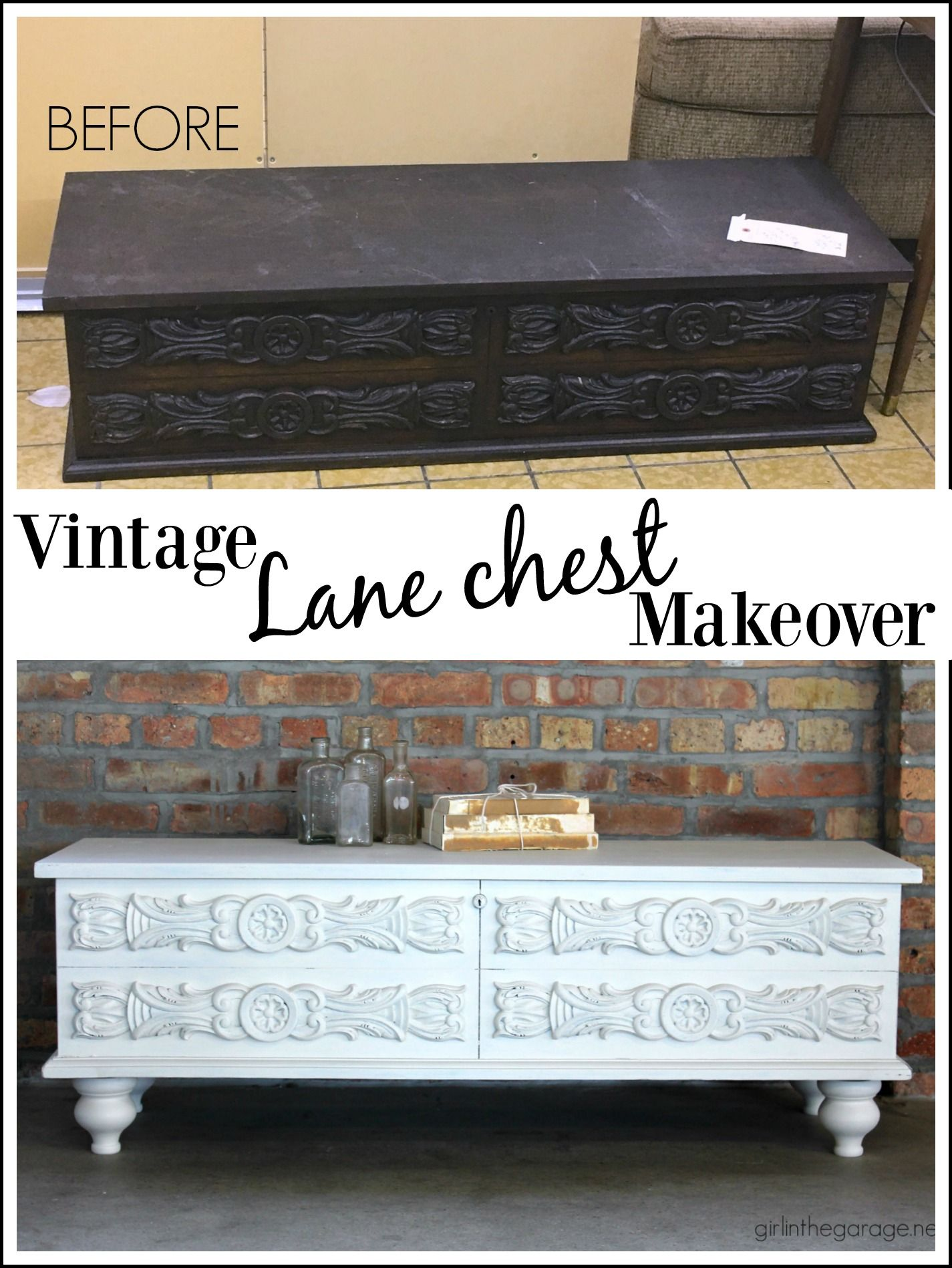 lane chest makeover goodwill story diy furniture refinished