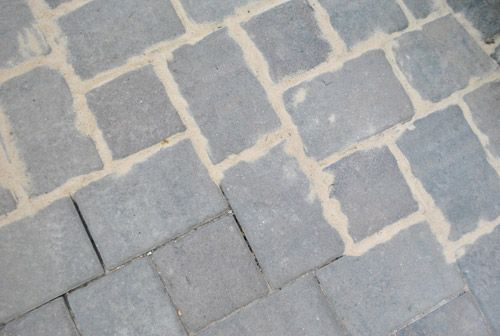 How To Use Polymeric Sand To Block Weeds In Our Paver Patio | Young House  Love