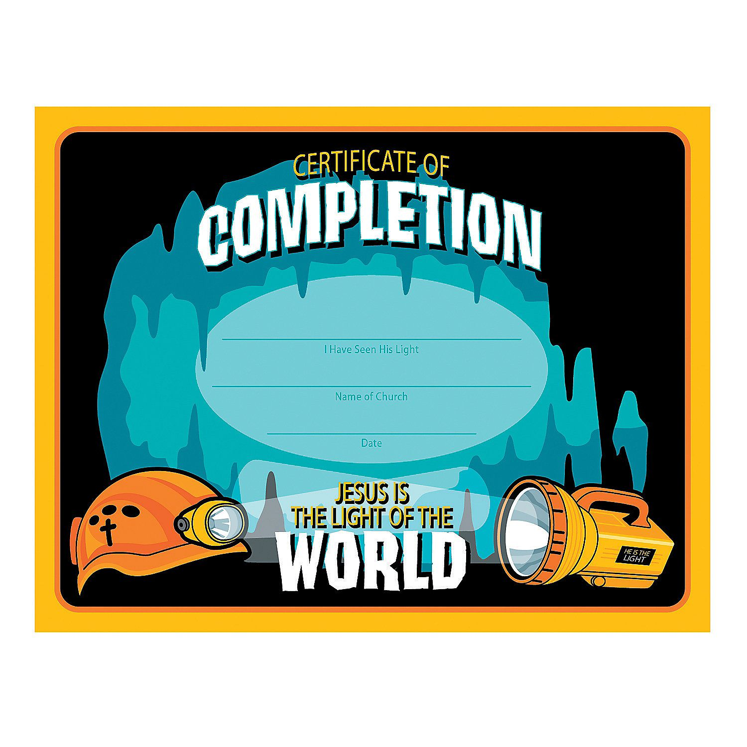 Cave Adventure Certificates of Completion Cave quest vbs