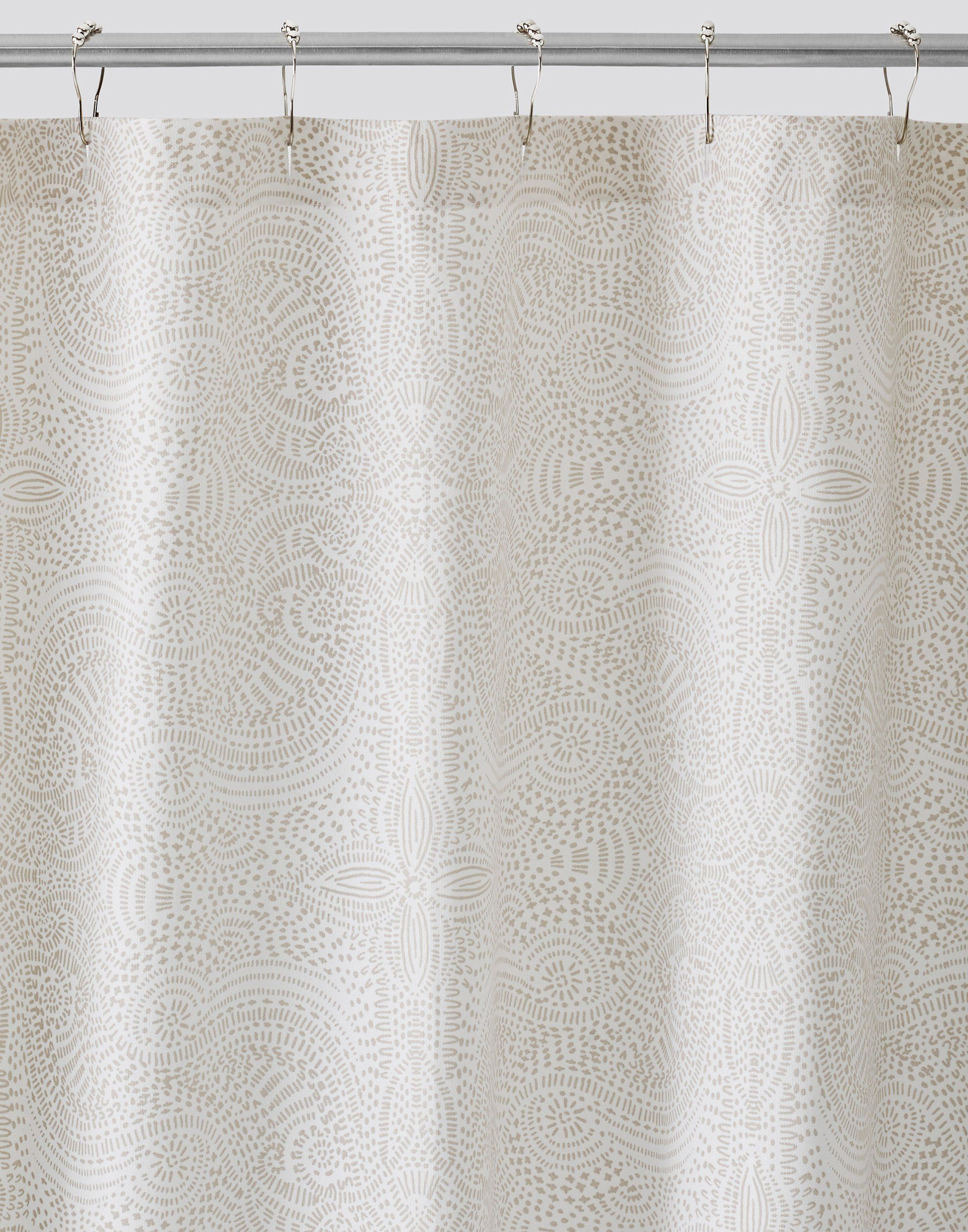 Andanza Taupe Shower Curtain Default Title Patterned Shower