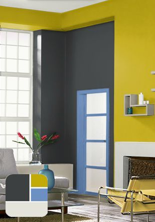 Create Your Own Color Palette With The Help Of BEHR Paint To Give Living Room