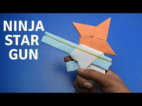How To Make A Paper Ninja Star Shuriken Cyclone Tri Blade