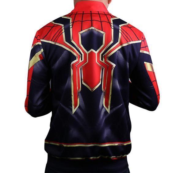 2018 Infinity War Spider-man Cosplay Hoodie Jacket Superhero Coat Avengers 3 1621fa637
