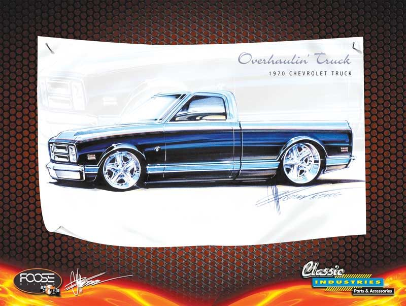 All Makes All Models Parts P151 Chip Foose Drawing 1970 Chevrolet Truck Classic Industries Chip Foose Chevrolet Trucks Foose