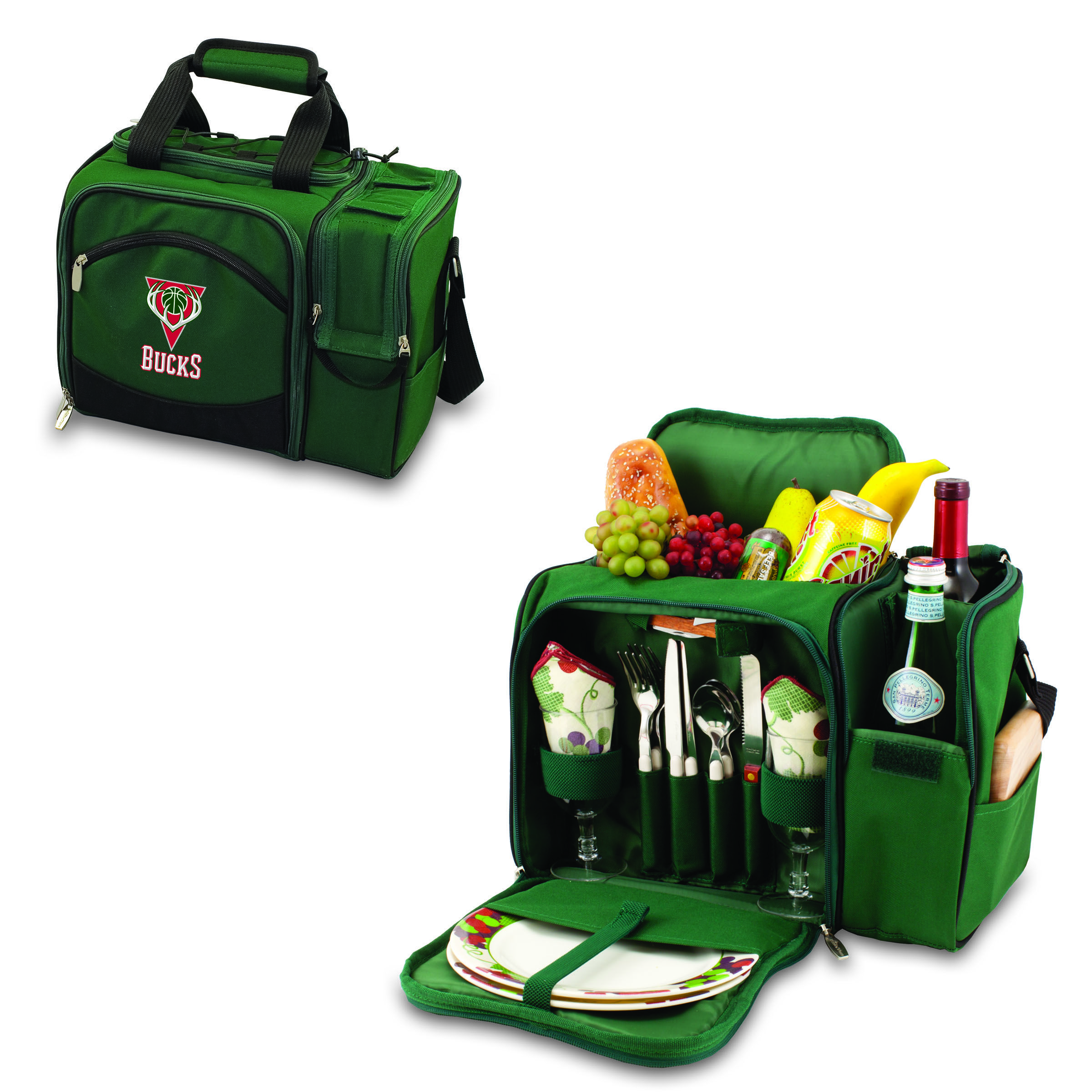 Whether you are going to the a tailgating party, concert or quite picnic for two, the Milwaukee Bucks Malibu cooler is for you!