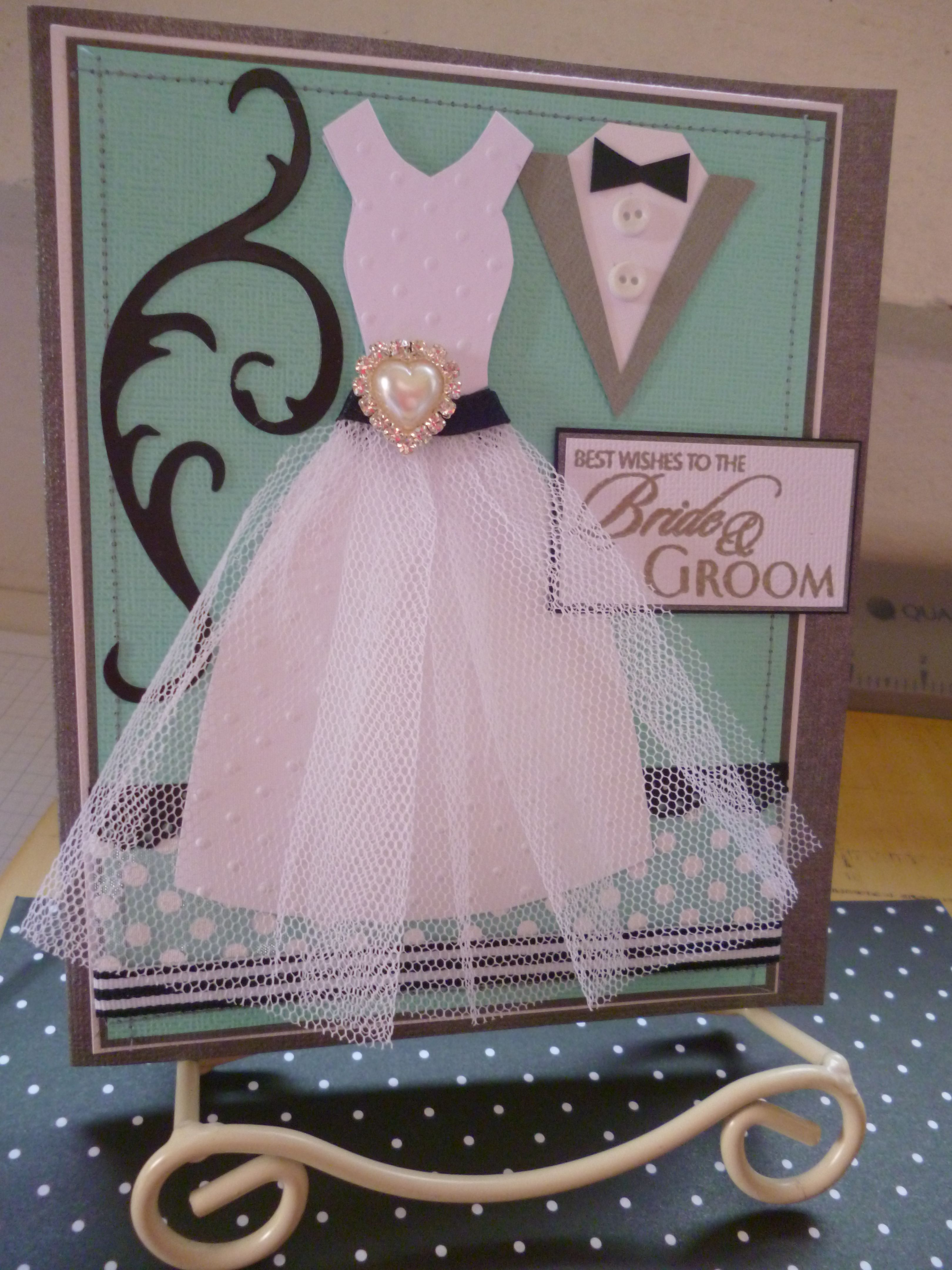 Wedding Card By Me Joolsongrubb Cards Dress Forms Pinterest