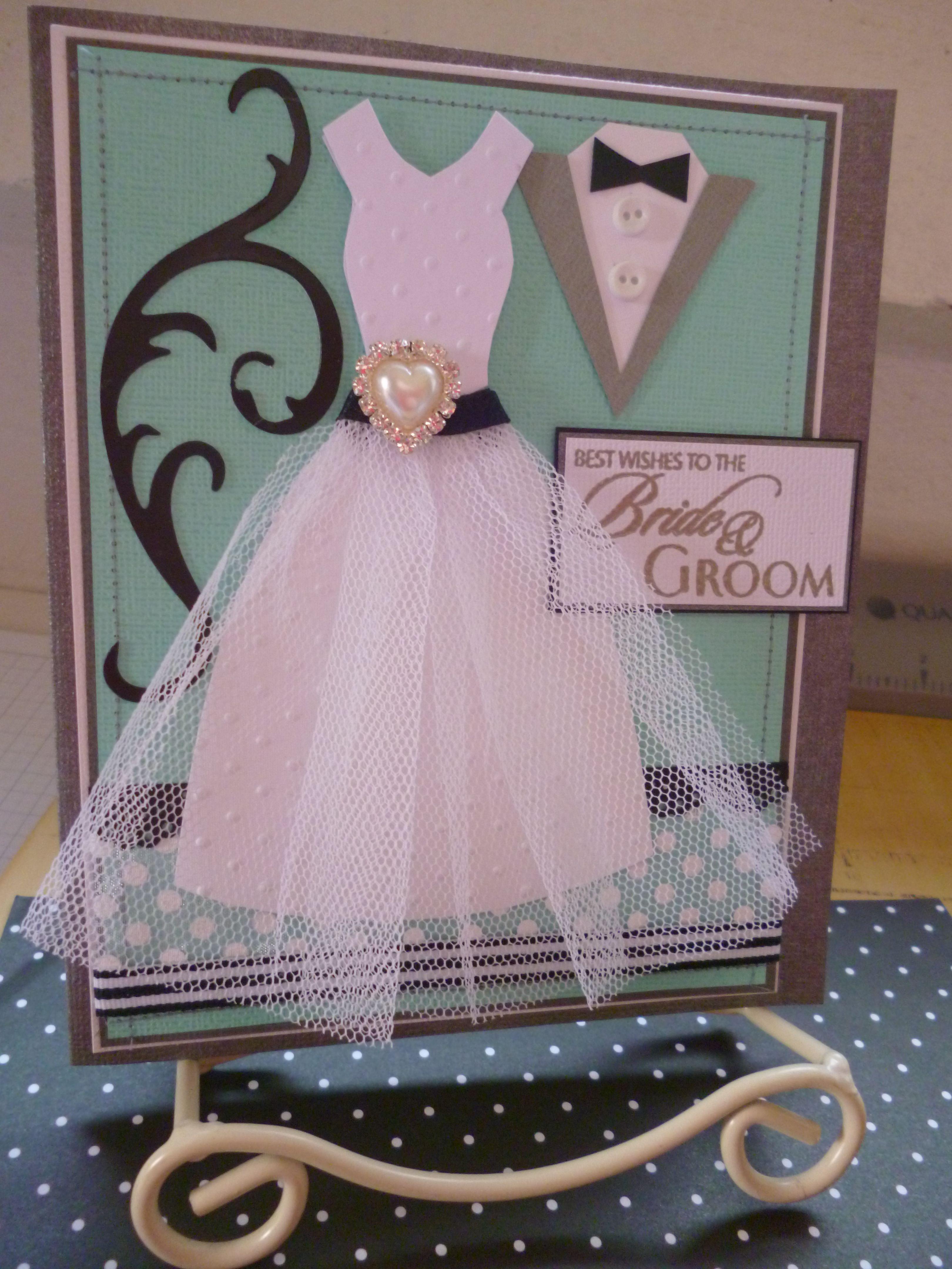 Wedding Card By Me Joolsongrubb Cards Apron Builder Dress