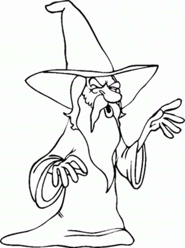 Merlin The Wizard With Long White Beard Coloring Pages Bulk Color Merlin The Wizard Beard Illustration White Beard